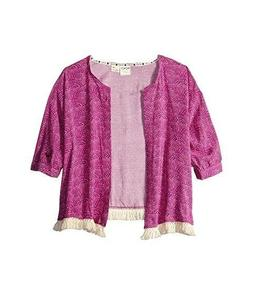 NWT ROXY KIDS CORAL KIMONO COVER UP SIZE 16 GIRLS