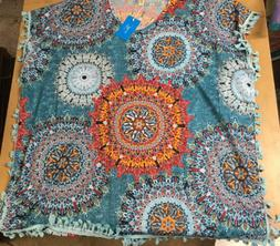 nwt new multi colored swimsuit cover up